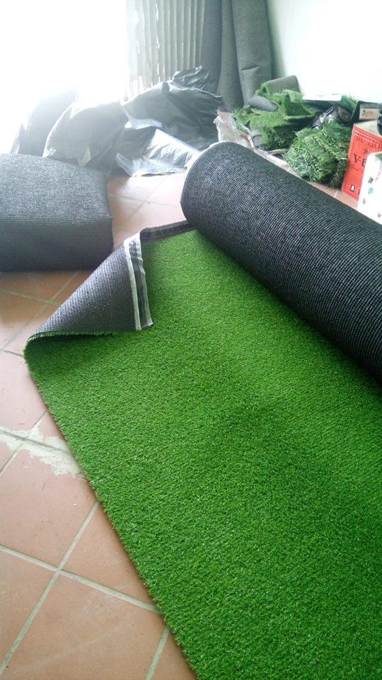 Thảm cỏ nhân tạo sân vườn 1cm SV01