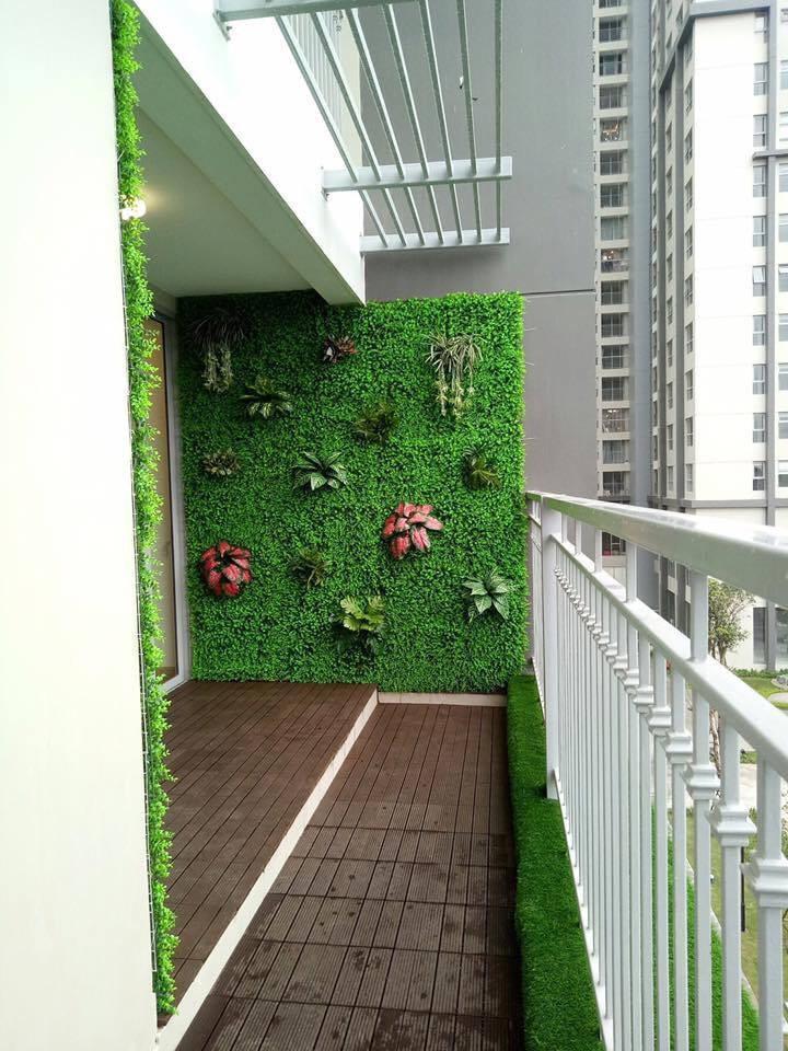 Gợi ý 5 cách trang trí tường đẹp cùng với Cỏ nhân tạo S.Home